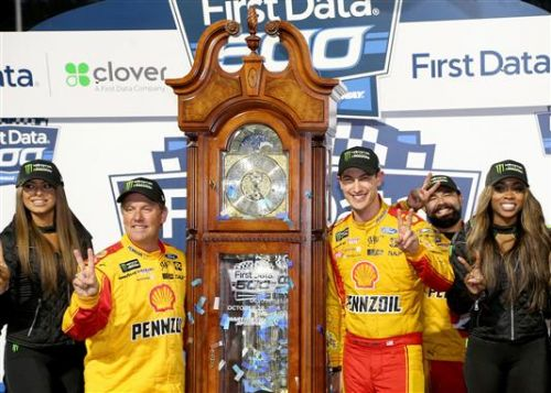 Joey Logano gets first grandfather clock with Martinsville win