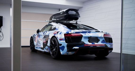 This Camo-Wrapped, Roof Box-Wearing R8 Surprisingly Isn't Jon Olsson's
