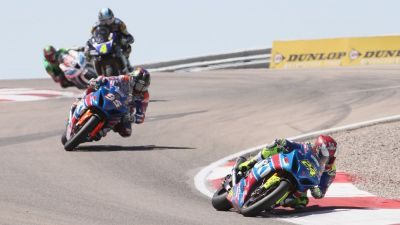Toni Elias Comes From Behind to Win Saturday's MotoAmerica Race in Utah