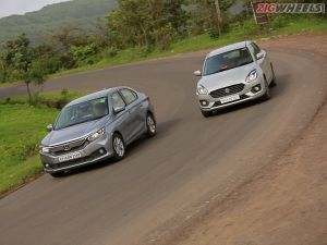 Maruti Dzire vs Honda Amaze Diesel Manual Road Test Review