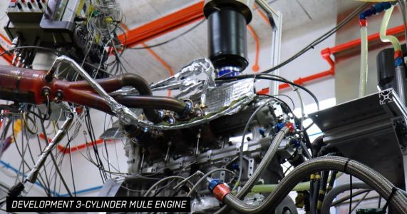 Watch A 3-Cylinder Test Mule For The Gordon Murray T.50 V12 Revving Like Mad