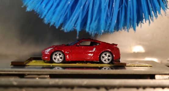 How Nissan Is Using A Miniature Car Wash To Make Your Paint Better