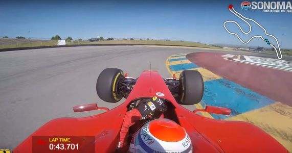 Watch A 2004 Ferrari F1 Car Bag The Unofficial Lap Record At Sonoma