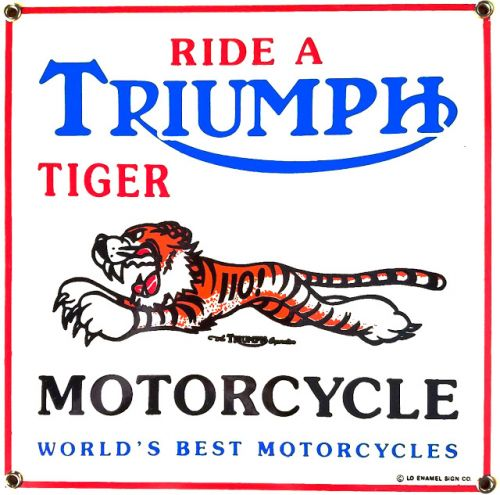 Bygone Motorcycle Advertising And Graphic Design