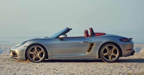 The Porsche Boxster 25 Years Has Fancy Gold Bits Like The Original Concept