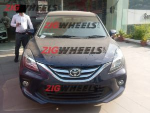 Toyota Glanza Spied At A Dealership