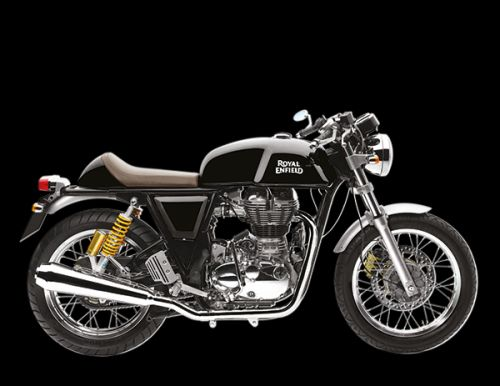 New Royal Enfield Continental GT. The all black cafe racer