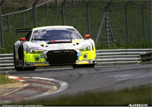 Six Audi R8 LMS GT3 in Nürburgring 24 Hours
