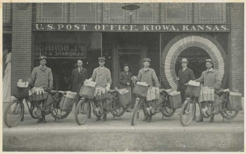 Motorcycle Mailmen In 1912
