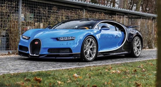 Early Two-Tone Blue Bugatti Chiron Heading To Paris Auction