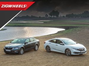 2019 Honda Civic vs Skoda Octavia | Petrol AT Comparison Review | ZigWheels