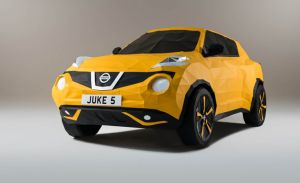 This Nissan Juke Is a Life-Size Origami Paper Sculpture