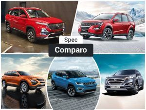 MG Hector Vs Harrier Vs XUV500 Vs Compass Vs Tucson