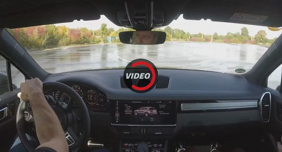 Drifting A 2018 Porsche Cayenne Turbo On A Wet Track Sounds Like Fun