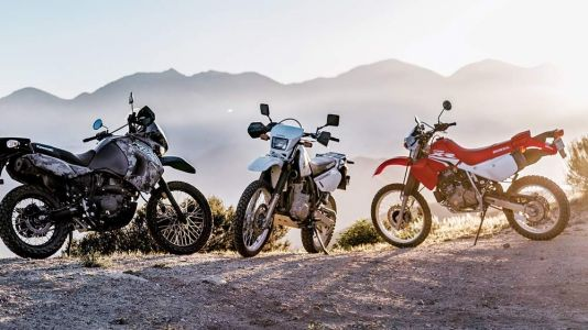2018 Honda XR250L vs. Kawasaki KLR650 vs. Suzuki DR650S Comparison