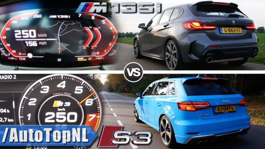 Audi S3 vs BMW M135i xDrive Acceleration Is Very Close