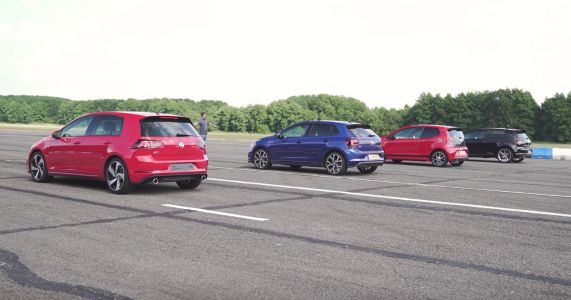 Which Car Will Come Out On Top In This Ultimate VW GTI Drag Race?