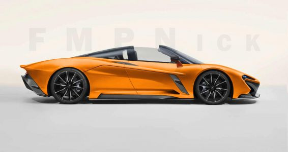Topless McLaren Speedtail Rendered - Could They Make It?