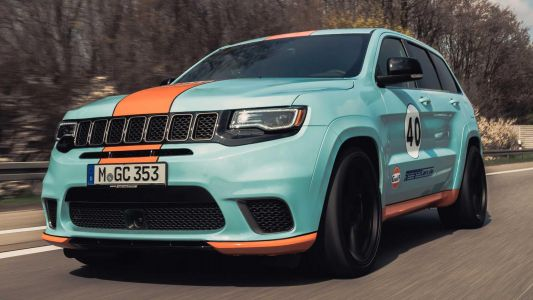 Gulf Themed Jeep Trackhawk Is Faster Than Bentayga Speed