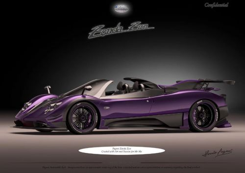 Newest Pagani Zonda Is Called Zun and It Looks Gorgeous In Purple