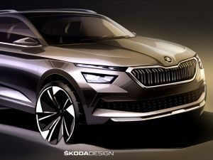 Skoda Kamiq Revealed In Sketches Creta Rival To Debut At Geneva