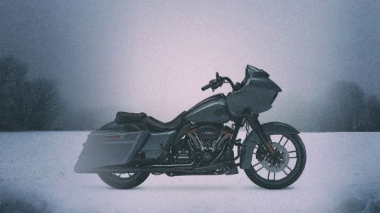 The Motorcyclist's Winter Solace