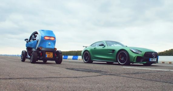 Can A Mercedes-AMG GT R Out-Drag A Renault Twizy. In Reverse?