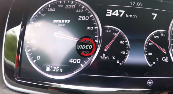 Watch The 900 HP Brabus Rocket Launch And Nudge 350 Km/h!