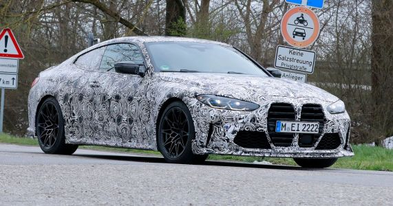 BMW M4 'CSL' Test Mule Papped Looking Very Angry