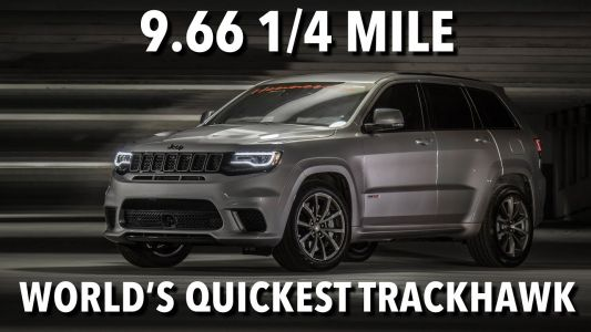 Insane 1,200 HP Jeep Grand Cherokee Trackhawk Does 9.66s Quarter Mile