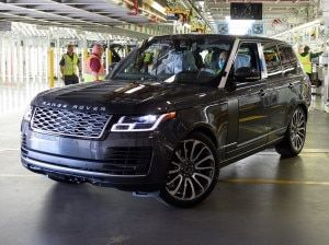 Heres The First Range Rover Manufactured With Social Distancing Measures