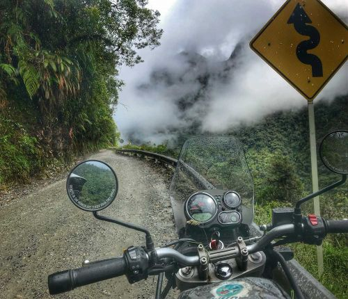 Motorcycle Touring In Colombia-Crossing The Trampoline Of Death