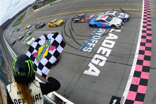 Ryan Blaney wins wild Talladega race