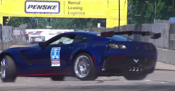 GM Development Chief Crashes Corvette ZR1 Pace Car At IndyCar Race