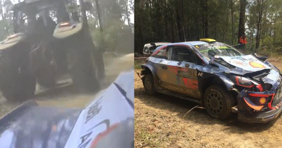An Unexpected Tractor On The Stage Caused This WRC Driver To Crash Out