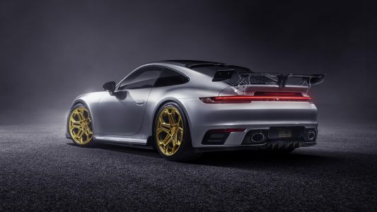 TechArt Upgrade New Porsche 911 With Some Gold Wheels and Wild Wing