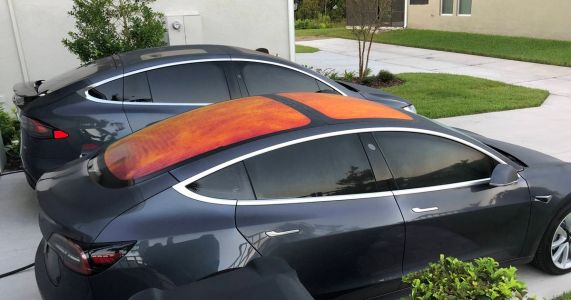 Tesla's Weird Orange Glass Roof Is Layers Of Cool Science