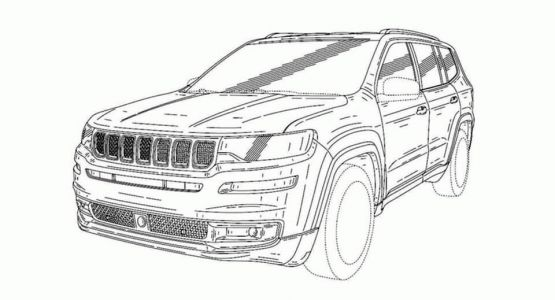 China-Only Jeep Grand Commander Surfaces In Design Sk