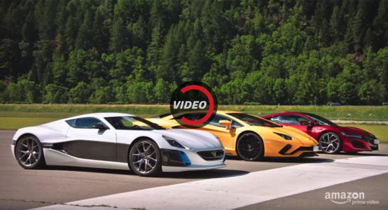 Watch Richard Hammond Smoke Aventador And NSX With The Rimac