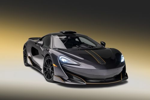 Stealth Grey MSO McLaren 600LT Headed For Pebble Beach With Roof Scoop