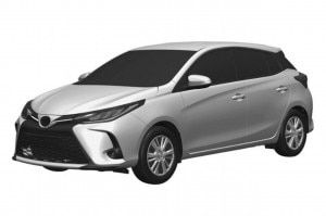 Toyota Yaris Facelift Design Previewed By Patent Leak India Launch Expected