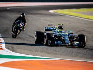 Lewis Hamilton and Valentino Rossi Swap Their F1 and MotoGP Rides