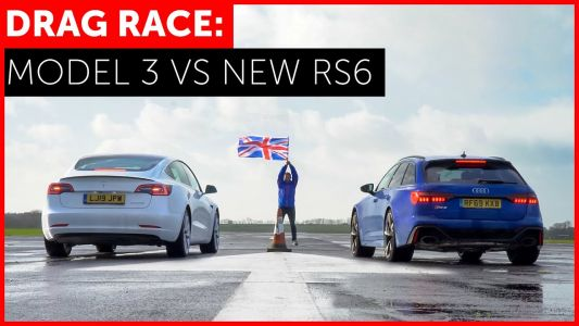 Watch New Audi RS 6 Avant Show Tesla Model 3 Performance Who Is Boss