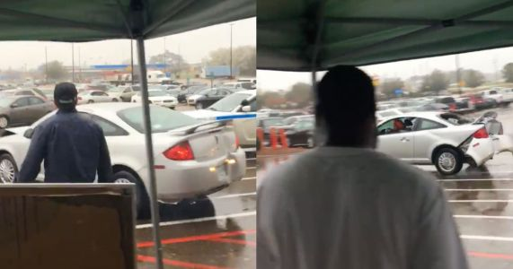 This Guy Destroyed A Pontiac G5 By Ramming A Walmart Over And Over