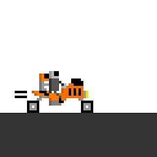 Tiger Motorcycle Pixel Art