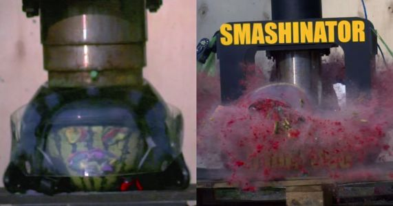 Here's A Motorbike Helmet Getting Obliterated By The 'Smashinator'