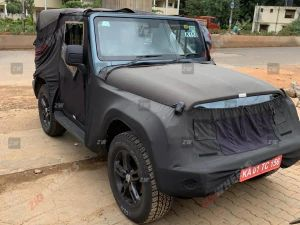 Production-spec 2020 Mahindra Thar Spotted Ahead Of August 15 Unveiling Roof-mounted Speakers Forward-facing Bench Seats Confirmed