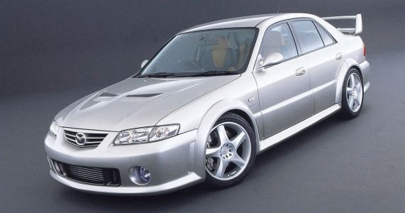 That Time Mazda Built A Twin-Turbo V6 626 To Rival The Mitsubishi Evo