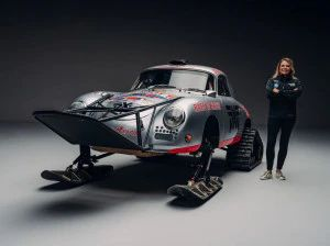 This 1956 Porsche 356 A Is Prepared To Take On The Ice In Antarctica