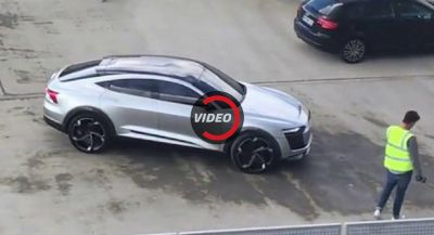 Audi's E-Tron Sportback Concept Shows Up On Hamburg Rooftop